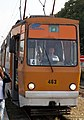 Tram in Sofia near Russian monument 084.jpg