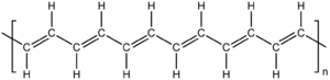 Polyacetylene - Structural diagram