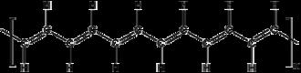 Polyacetylene - Structural diagram