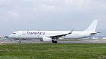 TransAsia Airways Airbus A321-231 B-22610 Departing from Taipei Songshan Airport 20150101d.jpg