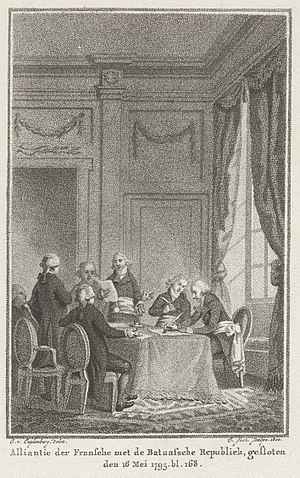 Treaty of The Hague (1795) - Conclusion of alliance between France and the Batavian Republic, 1795.