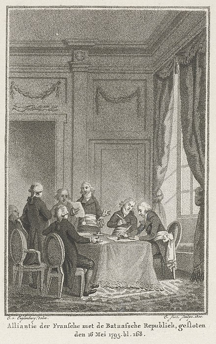 Conclusion of alliance between France and the Batavian Republic, 1795. Treaty of The Hague (1795).jpg