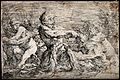 Tritons fighting over a nereid. Etching by S. Rosa. Wellcome V0048208.jpg