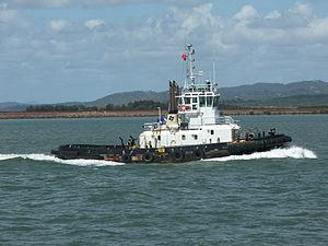 Tugboat on Gladstone harbour.JPG
