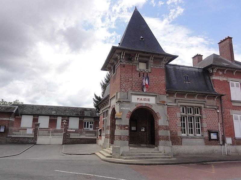 Tugny-et-Pont (Aisne) mairie et salle des fêtes