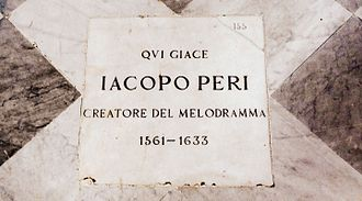Jacopo Peri - Gravestone in Santa Maria Novella