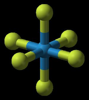 Tungsten hexafluoride - Image: Tungsten hexafluoride 3D balls