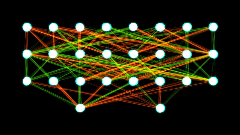 Two-layer feedforward artificial neural network