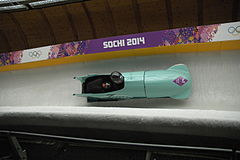 Two-man bobsleigh, 2014 Winter Olympics, Japan run 3.JPG