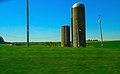Two Silos South of Boscobel - panoramio.jpg