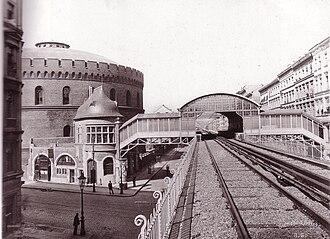 Prinzenstraße (Berlin U-Bahn) - U-Bahn station Prinzenstraße, about 1900