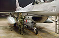 U.S. Air Force Staff Sgt. Daniel Daniels, 51st Aircraft Maintenance Squadron, Osan Air Base, Republic of Korea, checks over an F-16C Fighting Falcon, 36th Fighter Squadron, 51st Fighter Wing, before a nighttime 050719-F-SN743-056.jpg