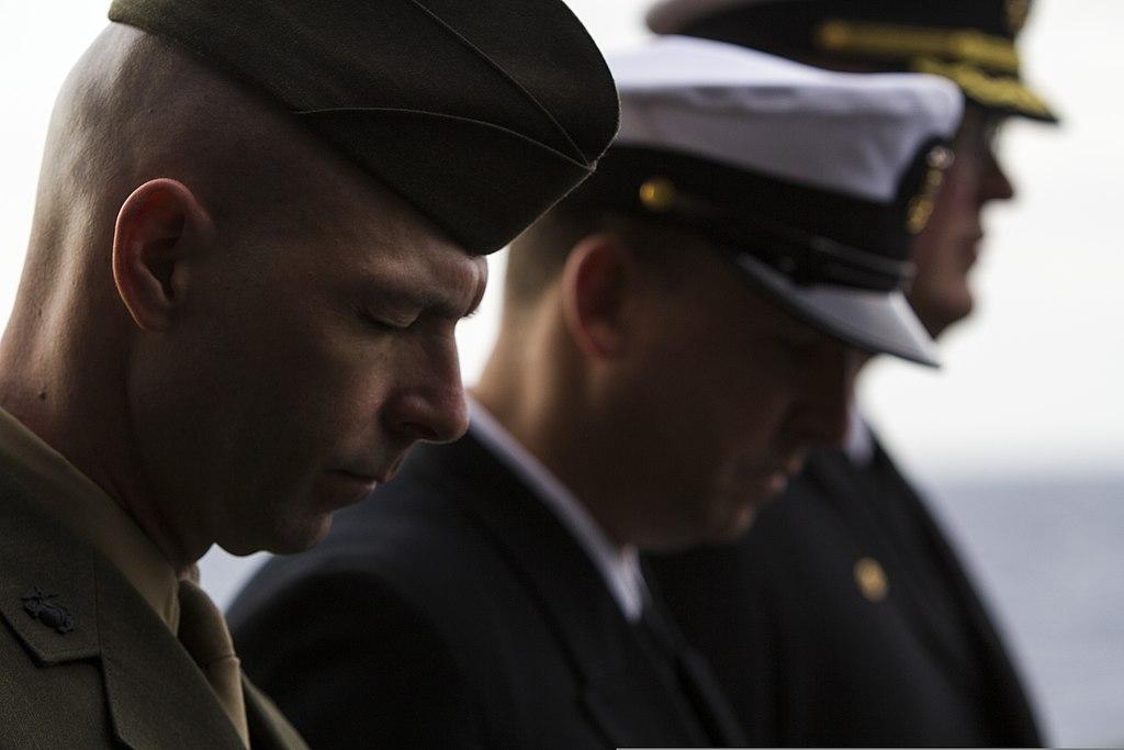 File:U.S. Marine Corps Sgt. Maj. Todd M. Parisi, left, the sergeant