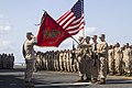 U.S. Marines and Sailors assigned to the 26th Marine Expeditionary Unit stand in formation during the MEU's 46th birthday celebration aboard the amphibious assault ship USS Kearsarge (LHD 3) in the Arabian Sea 130424-M-BS001-001.jpg
