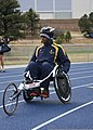 U.S. Navy Hospital Corpsman 3rd Class Antonio Anderson, a Navy-Coast Guard team member, trains for the 2013 Warrior Games in Colorado Springs, Colo., May 9, 2013 130509-N-DT940-163.jpg