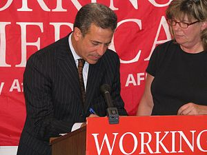 Working America - Senator Russ Feingold signing up as a member of Working America on August 4, 2008