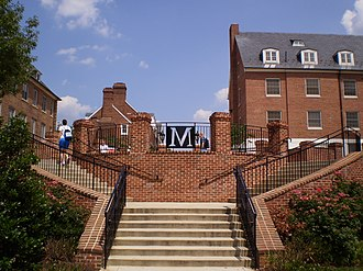 University of Maryland, College Park - A stairway in South Campus