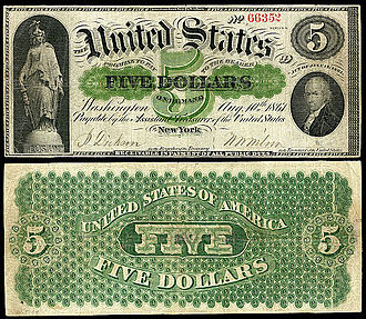 Demand Note - Image: US $5 DN 1861 Fr.1
