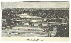 Pennsylvania Railroad, Connecting Railway Bridge - Image: US PA(1891) p 718 PHILADELPHIA, PENNSYLVANIA RAILROAD BRIDGES