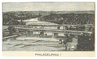 Pennsylvania Railroad, Connecting Railway Bridge - Image: US PA(1891) p 718 PHILADELPHIA, PENNSYLVANIA RAILROAD BRIDGES