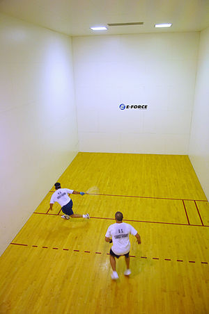 Racquetball - People playing racquetball