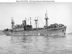 USS Cape Johnson (AP-172) - USS Cape Johnson, San Francisco Bay, 1944