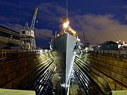 USS Cassin Young in Dry Dock