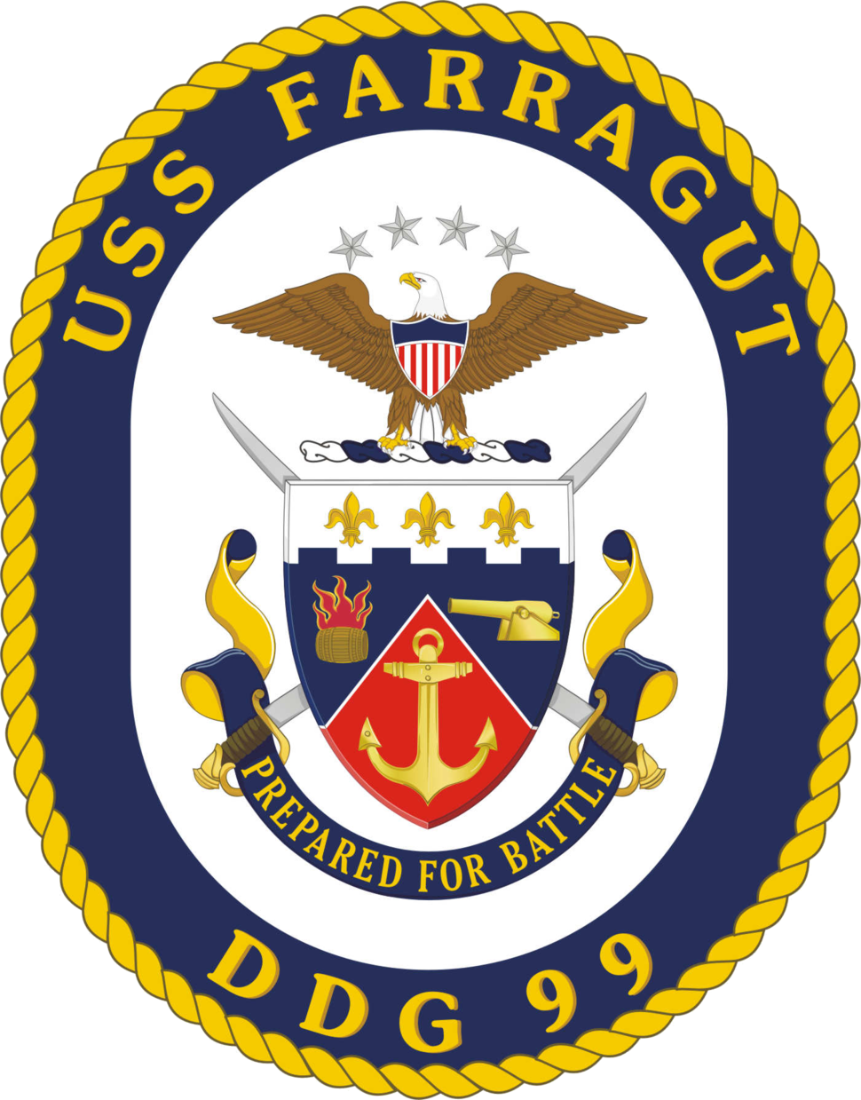 USS Farragut DDG-99 Crest