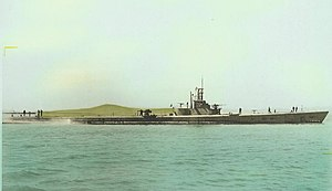 USS Haddo (SS-255) - Haddo (SS-255), off Mare Island Navy Yard, 10 April 1945.
