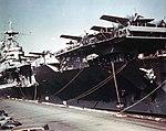 USS Hornet (CV-8) at Norfolk Naval Base in February 1942.jpg