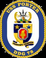 USS Porter DDG-78 Crest
