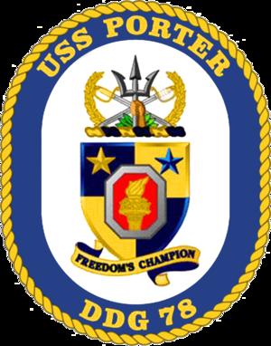 USS Porter (DDG-78) - Image: USS Porter DDG 78 Crest