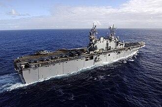 USS Tarawa (LHA-1) - Image: USS Tarawa LHA 1