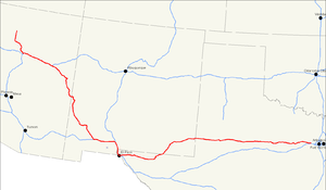 U.S. Route 180 - Image: US 180 map