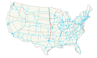 U.S. Route 75 - Image: US 75 map