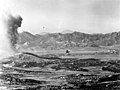 US Marine Corps F4U drops napalm in Korea in October 1952.jpg