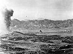US Marine Corps F4U drops napalm in Korea in October 1952.jpg