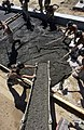 US Navy 030216-N-3783H-431 Seabees pour concrete for the foundation of a Tension Fabric Structure.jpg
