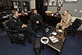 US Navy 070131-N-7948R-003 Chief of Staff of Command Navy Recruiting Command Capt. Dave Frederick, meets with Royal Australian Navy Warrant Officers Bob Barb and Andy Kirkpatrick.jpg