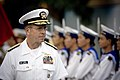 US Navy 070620-N-0696M-385 Chief of Naval Operations (CNO) Adm. Mike Mullen inspects sailors of the Vietnamese People's Navy during a welcoming ceremony to mark his visit to Hai Phong.jpg