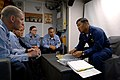 US Navy 080812-N-1635S-004 Lt. Cmdr. Leo S. Albea, executive officer of the Arleigh Burke-class guided-missile destroyer USS Howard (DDG 83), speaks with chief petty officer selectees about their new role.jpg