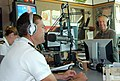 US Navy 080916-N-5324D-014 Lt. Andrew Baldwin, M.D. is interviewed by John Forsythe on KKOB FM 93.3's.jpg