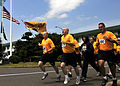 US Navy 090911-N-0807W-136 Sailors assigned to Fleet Activities Sasebo run in formation through the base during a Sept. 11 commemoration and 5 kilometer run.jpg