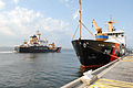 US Navy 100504-N-6268N-093 The U.S. Coast Guard seagoing buoy tender USCGC Oak (WLB 211) gets underway as the seagoing buoy tender USCGC Cypress (WLB 210) stands-by to deploy from Naval Air Station Pensacola.jpg