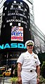 US Navy 100528-N-5878L-085 Rear Adm. Mark S. Boensel, commander of Navy Region Mid-Atlantic, attends the closing of the NASDAQ Stock Exchange as part of Fleet Week New York 2010.jpg