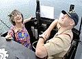 US Navy 100729-N-0995C-001 Capt. Stan Robertson, right, commodore of Submarine Squadron (SUBRON) 1, and Hawaii Gov. Linda Lingle,.jpg
