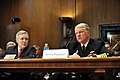 US Navy 110316-N-ZB612-020 Secretary of the Navy (SECNAV) The Honorable Ray Mabus, left, listens to Chief of Naval Operations (CNO) Adm. Gary Rough.jpg