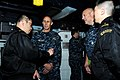 US Navy 110330-N-IC111-031 Vice Adm. Scott Van Buskirk, commander of U.S. 7th Fleet, speaks with members of the Japan Maritime Self-Defense Force a.jpg