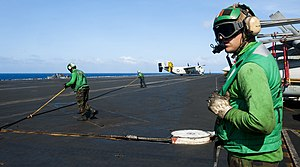 US Navy 120206-N-OY799-472 Sailors observe flight operation on the flight deck.jpg