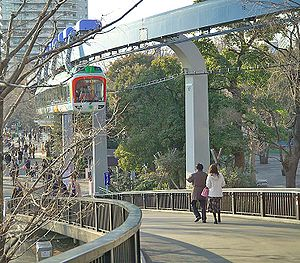 Tokyo Metropolitan Bureau of Transportation - The Ueno Zoo Monorail carries passengers within the Ueno Zoo.